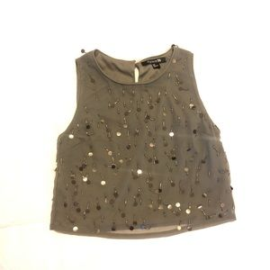 Forever 21 Sequin Crop Top Blouse